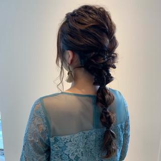 玉ねぎ 編みおろし ヘアアレンジ エレガント ヘアスタイルや髪型の写真・画像 ヘアスタイルや髪型の写真・画像