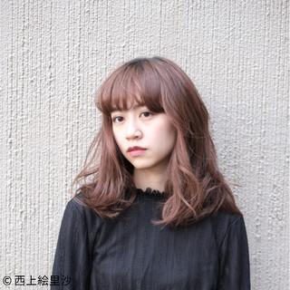 前髪あり ミディアム 夏 ナチュラル ヘアスタイルや髪型の写真・画像