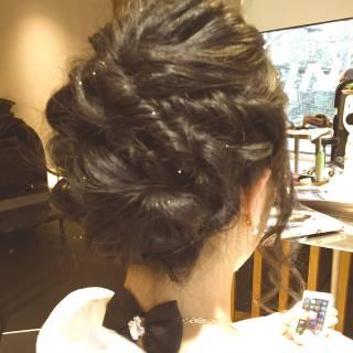 ロング ゆるふわ ヘアアレンジ 結婚式 ヘアスタイルや髪型の写真・画像