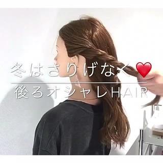 デート ヘアアレンジ 簡単ヘアアレンジ アウトドア ヘアスタイルや髪型の写真・画像