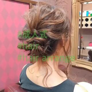 ヘアアレンジ フェミニン セミロング アウトドア ヘアスタイルや髪型の写真・画像 ヘアスタイルや髪型の写真・画像