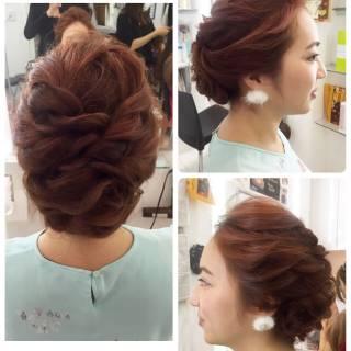 ロング パーティ ルーズ ヘアアレンジ ヘアスタイルや髪型の写真・画像