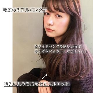 小顔ヘア セミロング 小顔 韓国ヘア ヘアスタイルや髪型の写真・画像