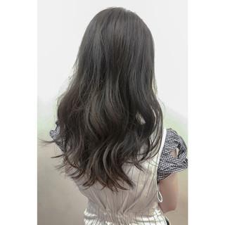 透明感 暗髪 ロング アッシュ ヘアスタイルや髪型の写真・画像