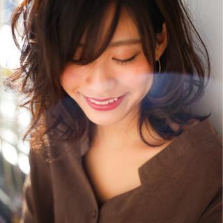 コンサバ 冬 フェミニン ボブ ヘアスタイルや髪型の写真・画像