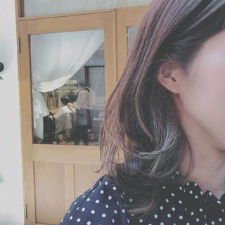 透明感 ミディアム 大人かわいい フェミニン ヘアスタイルや髪型の写真・画像