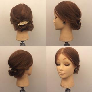 エレガント ヘアアレンジ 大人女子 結婚式 ヘアスタイルや髪型の写真・画像