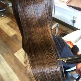 美髪 髪質改善カラー ロング ナチュラル ヘアスタイルや髪型の写真・画像