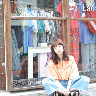 ロング 小顔 ストリート デート ヘアスタイルや髪型の写真・画像