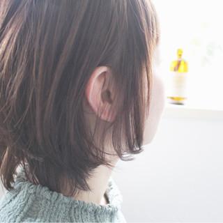 色気 ミディアム モーブ ピンク ヘアスタイルや髪型の写真・画像