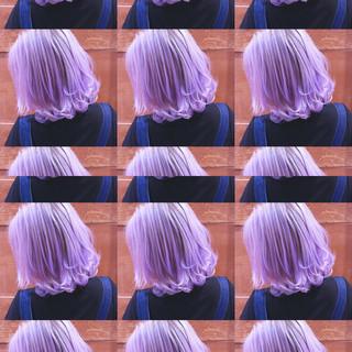 バレイヤージュ インナーカラー ユニコーンカラー グラデーションカラー ヘアスタイルや髪型の写真・画像
