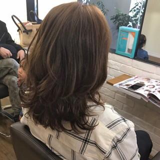 ハイライト ニュアンス コンサバ ミディアム ヘアスタイルや髪型の写真・画像