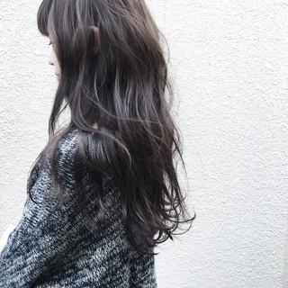 外国人風 ナチュラル デジタルパーマ 暗髪 ヘアスタイルや髪型の写真・画像