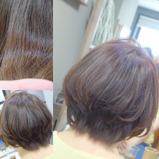 デート オフィス リラックス ボブ ヘアスタイルや髪型の写真・画像