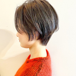 ショート オフィス ゆるふわ ミニボブ ヘアスタイルや髪型の写真・画像