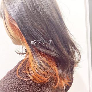 インナーカラー ヘアカラー ストリート ナチュラル可愛い ヘアスタイルや髪型の写真・画像