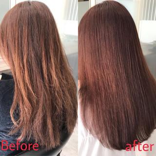 ナチュラル ダメージレス ロング 縮毛矯正 ヘアスタイルや髪型の写真・画像 ヘアスタイルや髪型の写真・画像