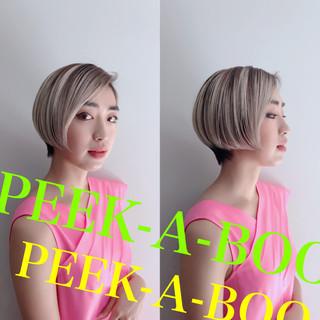 ショートボブ ストリート ショート マッシュショート ヘアスタイルや髪型の写真・画像