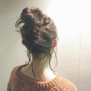 ボブ ブラントカット ヘアアレンジ ブリーチ ヘアスタイルや髪型の写真・画像