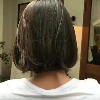 ボブ オフィス デート 大人かわいい ヘアスタイルや髪型の写真・画像