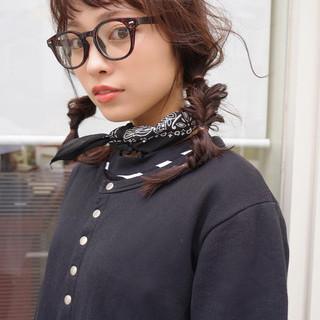 フェミニン 前髪あり セミロング ヘアアレンジ ヘアスタイルや髪型の写真・画像