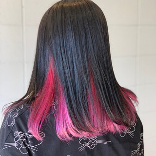 ロング ストレート インナーカラー グラデーションカラー ヘアスタイルや髪型の写真・画像 ヘアスタイルや髪型の写真・画像