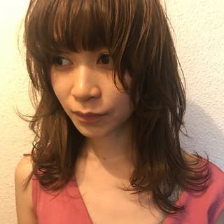 ミディアム マッシュ 色気 ナチュラル ヘアスタイルや髪型の写真・画像
