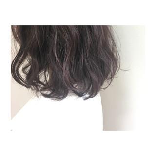 ミディアム ラベンダーピンク フェミニン ラベンダー ヘアスタイルや髪型の写真・画像 ヘアスタイルや髪型の写真・画像