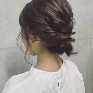 ナチュラル ヘアアレンジ 透明感 アンニュイ ヘアスタイルや髪型の写真・画像