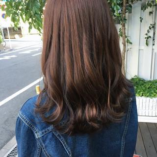 大人カジュアル ブランジュ トリートメント セミロング ヘアスタイルや髪型の写真・画像