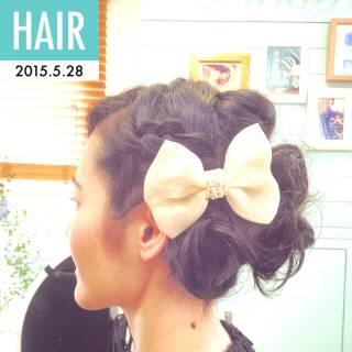 結婚式 コンサバ ヘアアレンジ ヘアアクセ ヘアスタイルや髪型の写真・画像