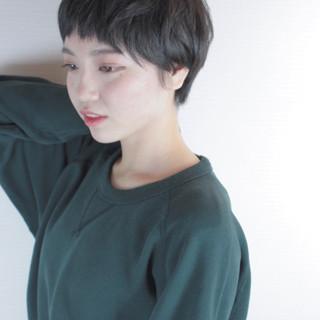 ガーリー マッシュ 冬 ショート ヘアスタイルや髪型の写真・画像