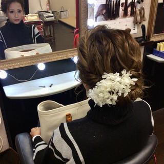 ヘアアレンジ 結婚式ヘアアレンジ ミディアム 結婚式 ヘアスタイルや髪型の写真・画像