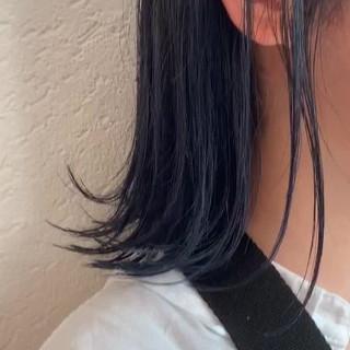 最新トリートメント ボブ ブルー 髪質改善トリートメント ヘアスタイルや髪型の写真・画像