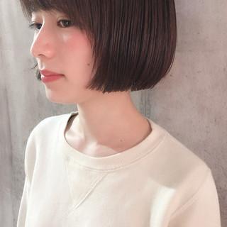 ミニボブ 大人女子 ナチュラル 外国人風 ヘアスタイルや髪型の写真・画像