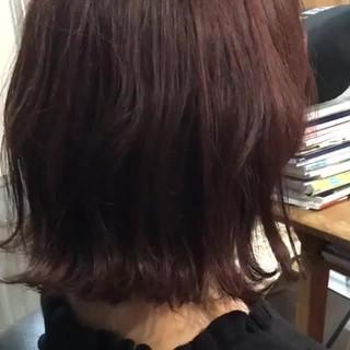 韓国ヘア ミディアム ヘアアレンジ フェミニン ヘアスタイルや髪型の写真・画像