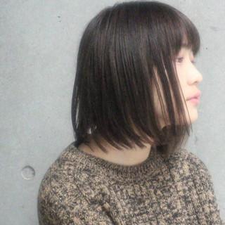 ボブ 大人女子 色気 暗髪 ヘアスタイルや髪型の写真・画像
