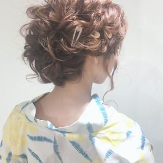 フェミニン ロング 浴衣ヘア 福岡市 ヘアスタイルや髪型の写真・画像