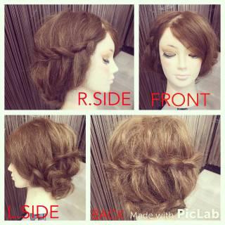 ストリート 波ウェーブ ヘアアレンジ セミロング ヘアスタイルや髪型の写真・画像 ヘアスタイルや髪型の写真・画像
