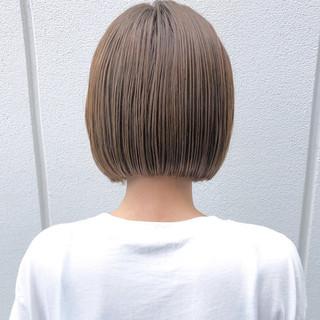 透け感 ナチュラル ボブ スポーツ ヘアスタイルや髪型の写真・画像