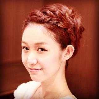 結婚式 コンサバ ヘアアレンジ アップスタイル ヘアスタイルや髪型の写真・画像