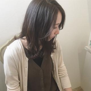 秋 アッシュ セミロング 女子力 ヘアスタイルや髪型の写真・画像