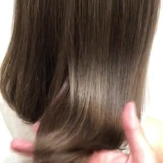 ミディアム 透明感カラー ヘアカラー 透明感 ヘアスタイルや髪型の写真・画像