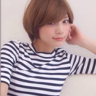 ショート 秋 モテ髪 ナチュラル ヘアスタイルや髪型の写真・画像