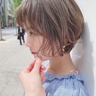 ナチュラル デート ヘアアレンジ ショート ヘアスタイルや髪型の写真・画像 ヘアスタイルや髪型の写真・画像