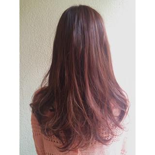 コンサバ ラベンダーピンク 冬 ピンク ヘアスタイルや髪型の写真・画像