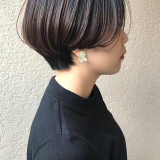 スポーツ デート アウトドア ショートボブ ヘアスタイルや髪型の写真・画像