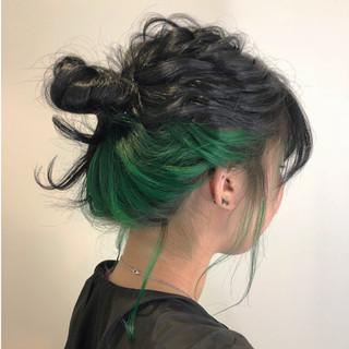 アウトドア スポーツ 透明感 ヘアアレンジ ヘアスタイルや髪型の写真・画像