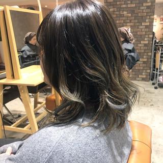 ブリーチ必須 ナチュラル ミディアム 透明感カラー ヘアスタイルや髪型の写真・画像