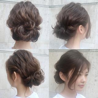 ミディアム 大人かわいい ゆるふわ 結婚式 ヘアスタイルや髪型の写真・画像 ヘアスタイルや髪型の写真・画像
